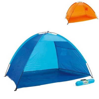 Tente de plage personnalisé publicitaire, coloris bleu ou orange