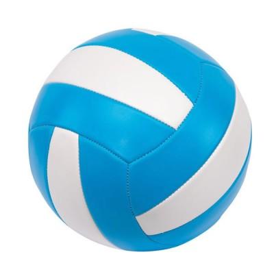 Ballon de volley ball personnalisé publicitaire, couleur : bleu et blanc