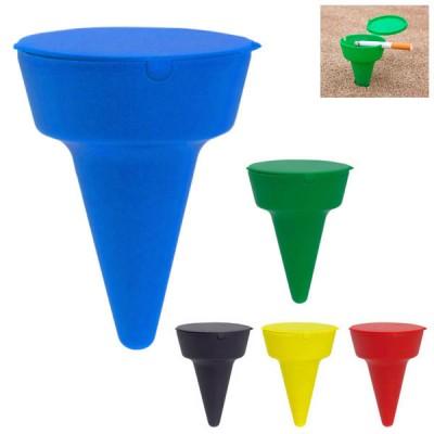 Cendrier de plage personnalisable publicitaire, coloris : noir, bleu, vert, jaune, rouge