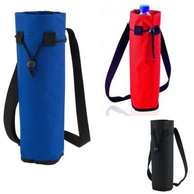 Porte bouteille d'eau ou soda publicitaire personnalisable, coloris noir, bleu, rouge