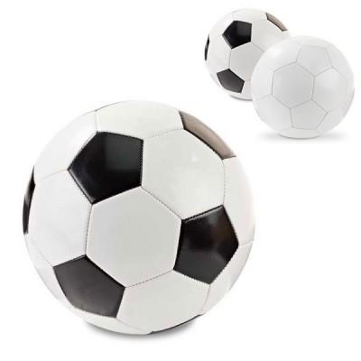 Ballon football personnalisé, taille 5, coloris : héxagone blanc ou blanc et noir