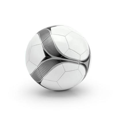Ballon de football personnalisé publicitaire blanc avec rayures noir