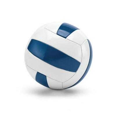 Ballon de volley-ball personnalisable pas cher, coloris blanc et bleu. Ballon volley-ball pro publicitaire