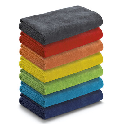 serviette de plage en microfibre personnalisable broderie prublicitaire