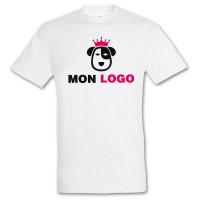 Tee-shirt blanc enfant publicitaire Impérial Sol's 190 Grs. T-shirt blanc enfant personnalisé.