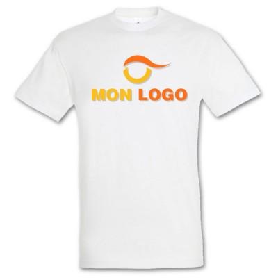 Tee-shirt blanc homme pas cher publicitaire Regent Sol's 150 Grs. T-shirt personnalisé