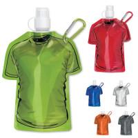 Gourde pliable personnalisé en form de tee-shirt noir, blanc, bleu, vert, orange, rouge