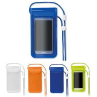 Pochette étanche pour smartphone publicitaire blanc, bleu, vert, orange