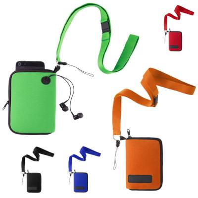 Sacoche bandoulière iphone smartphone publicitaire personnalisable noir, bleu, orange, vert, rouge