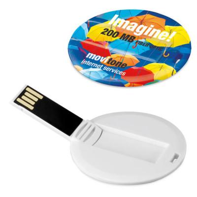 Clé USB ronde personnalisé publicitaire pas cher