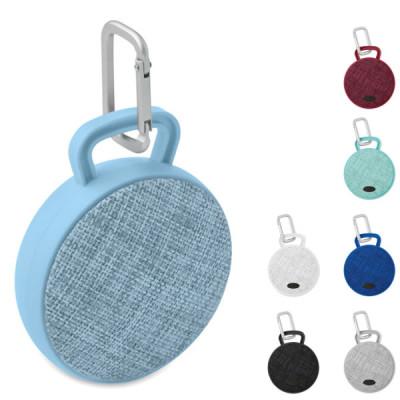 Haut parleur enceinte bluetooth ronde personnalisable publicitaire