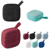 Haut parleur enceinte bluetooth personnalisée pas cher Enceinte bluetooth tissu carré publicitaire