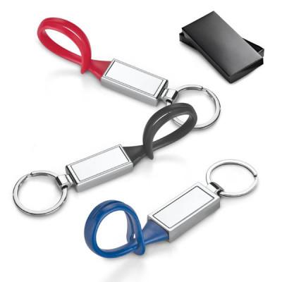 Porte-clés publicitaire personnalisable avec logo quadri