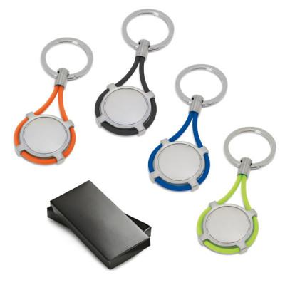 Porte-clés rond personnalisé logo quadri