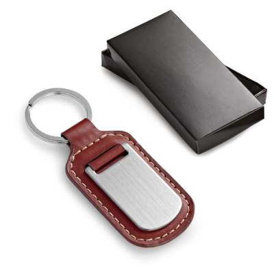 Porte-clés publicitaire cuir personnalisable par gravure