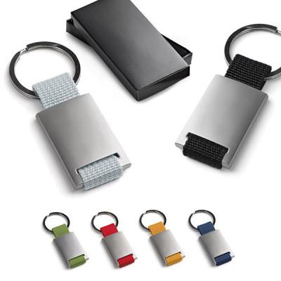 Porte-clés métal personnalisé gravure logo ou texte