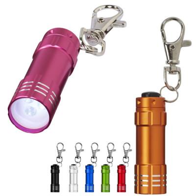 Porte-clés Lampe LED à mousqueton publicitaire personnalisé pas cher