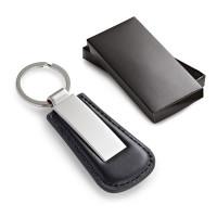 Porte-clés personnalisable en métal et simili cuir par cher