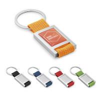 Porte-clés personnalisé logo quadrichromie doming