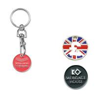Porte-clés jeton caddie métal personnalisable pas cher goodies
