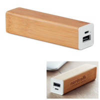 Batterie externe Bambou objet publicitaire goodies power bank