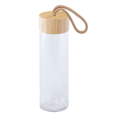 Bouteille en verre et bouchon Bambou Objet Publicitaire