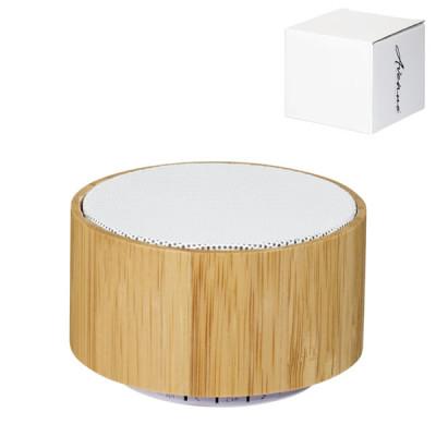 Enceinte Bluetooth en bambou publicitaire personnalisé pas cher