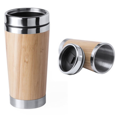 Mug Bambou métal Objet publicitaire personnalisé Goodies