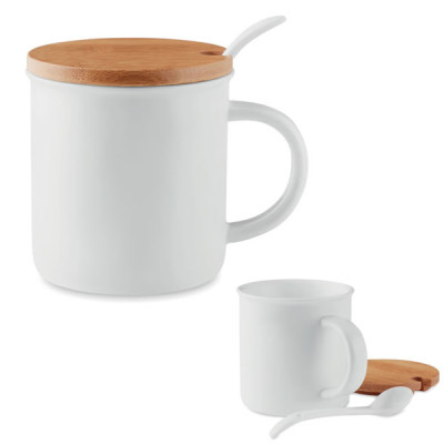 Mug Thé Cuillère et Bambou Objet publicitaire Goodies personnalisé