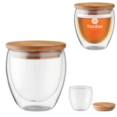Tasse Thé Mug verre et Bambou Objet publicitaire Goodies Design