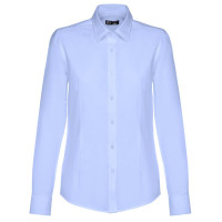 chemise femme bleue oxford personnalisable broderie publicitaire