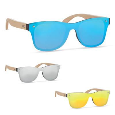 lunettes de soleil bambou verre miroir publicitaire personnalisée goodies