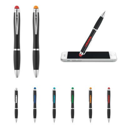 stylo logo lumineux éclairé personnalisable publicitaire personnalisé gravure laser goodies