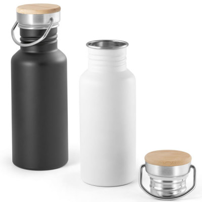 Bouteille métal acier personnalisable pour remplacer bouteille plastique
