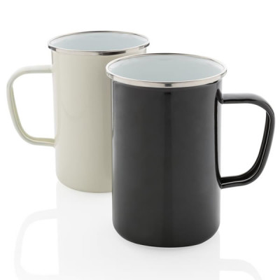 grand mug metal emaille personnalisable logo