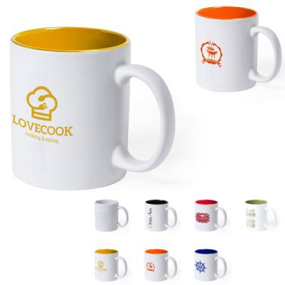 mug exterieur blanc interieur couleur personnalise logo