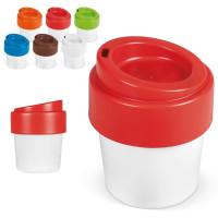 tasse avec couvercle incassable en plastique bio personnalise logo entreprise goodies