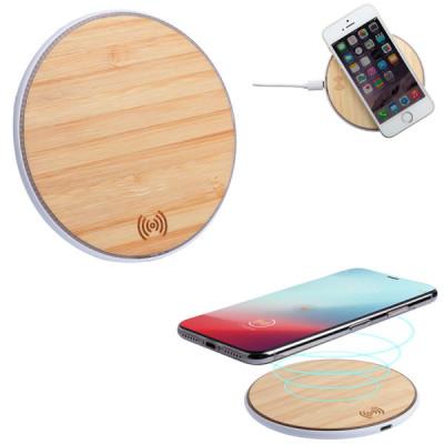 chargeur sans fil bambou pour téléphone smartphone